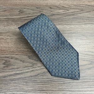 Tommy Hilfiger Grey w/ Navy & Blue Check Tie